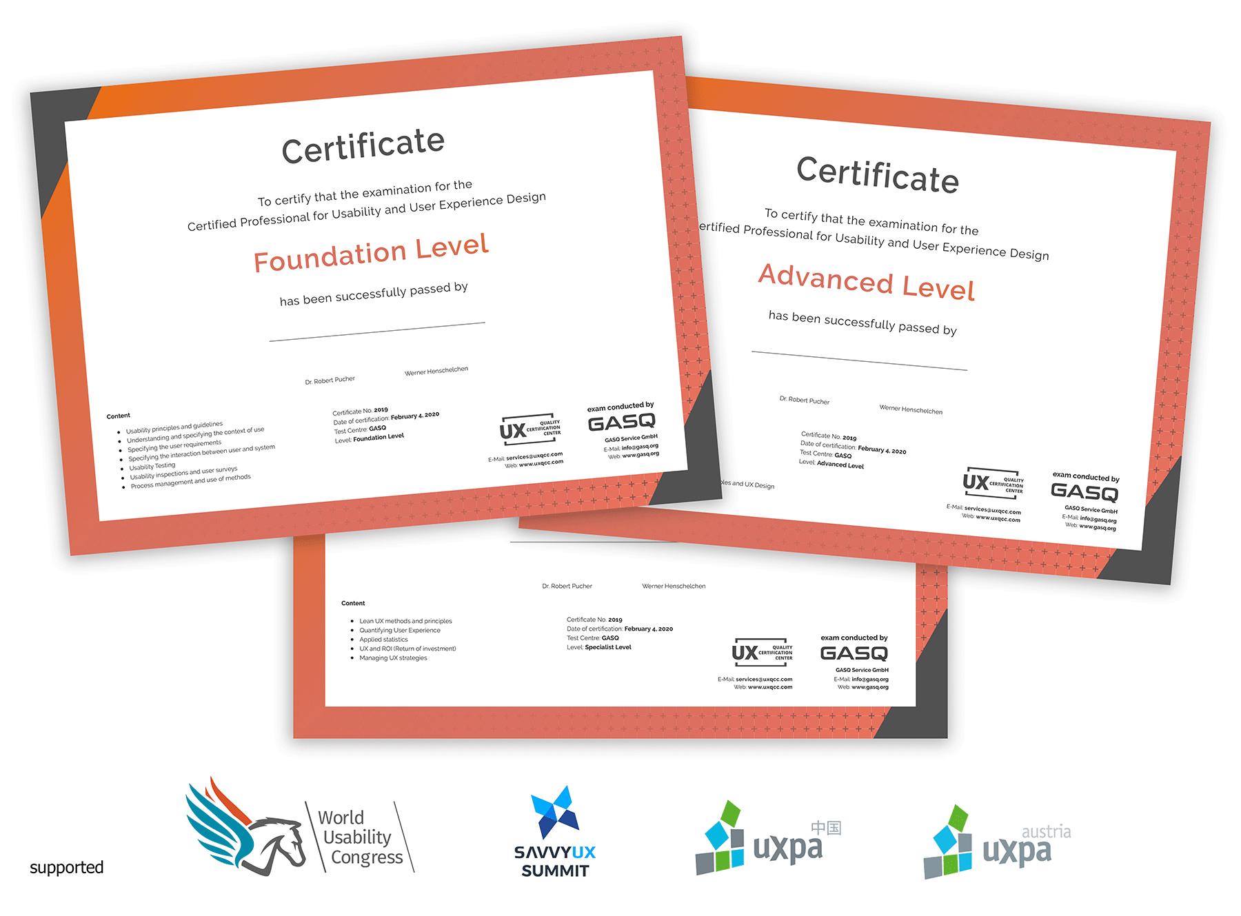 printed certificates